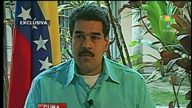 Nicolás Maduro, vicepresidente de Venezuela, durante la entrevista concedida a Telesur