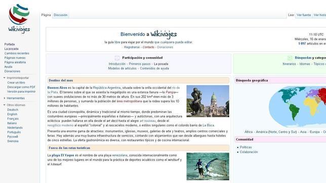 Wikipedia lanza Wikivoyage, una enciclopedia de viajes