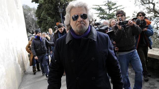 Grillo, tras votar ayer en Génova