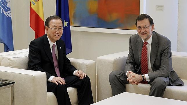 Rajoy pide a Ban Ki-Moon que España entre en el Consejo de Seguridad de la ONU