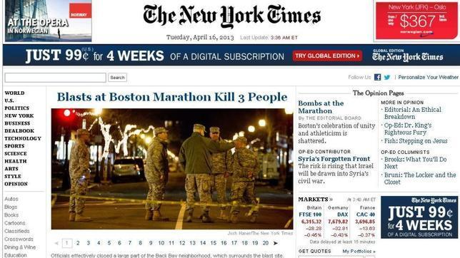 The New York Times, discreto en su edición digital