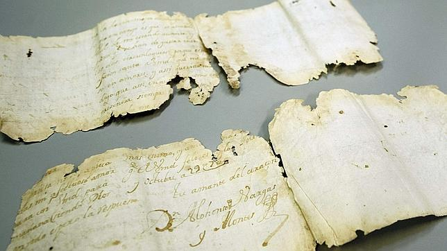 Sale a la luz una carta de amor de hace 300 años aparecida en Toledo