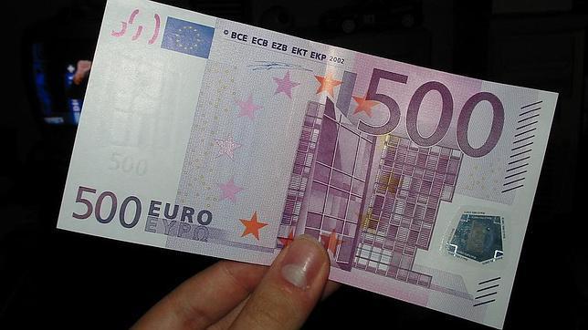 El billete de 500, solo en su inmensidad