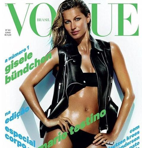 Gisele Bundchen, espectacular para «Vogue» dos meses después de dar a luz