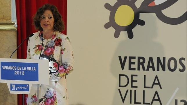 Ana Botella, alcaldesa de Madrid, durante la presentación de los Veranos de la Villa de 2013