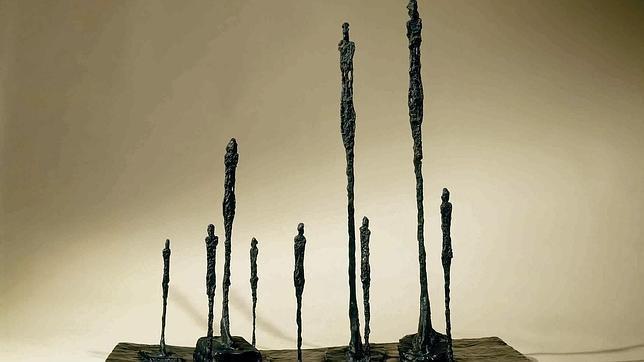 Detalle de «El claro» (1950), composición de Giacometti donde las figuras forman un «bosque» lleno de silencios