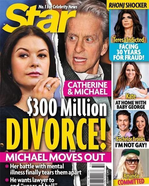 Rumores de divorcio para Michael Douglas y Catherine Zeta-Jones