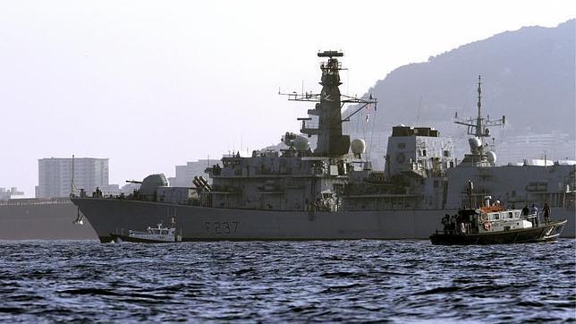 La fragata HMS Westminster llega a la base naval de Gibraltar