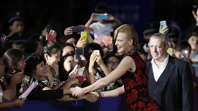 Nicole Kidman en Qinngdao (China), en la inauguración del nuevo complejo destinado al cine