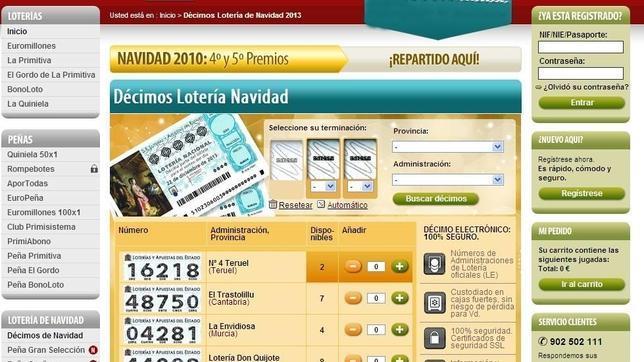 Cada vez más personas acuden a diferentes webs para comprar la Lotería de Navidad 2013