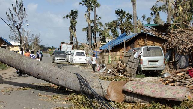 El tifón Haiyan toca tierra en Vietnam