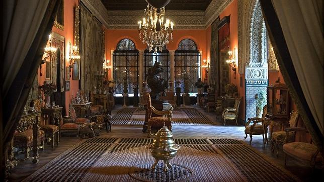 Uno de los salones del Palacio de Dueñas, en Sevilla