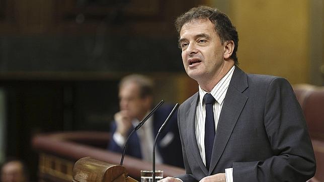 El portavoz parlamentario de ERC, Alfred Bosch, durante su intervención en el pleno del Congreso