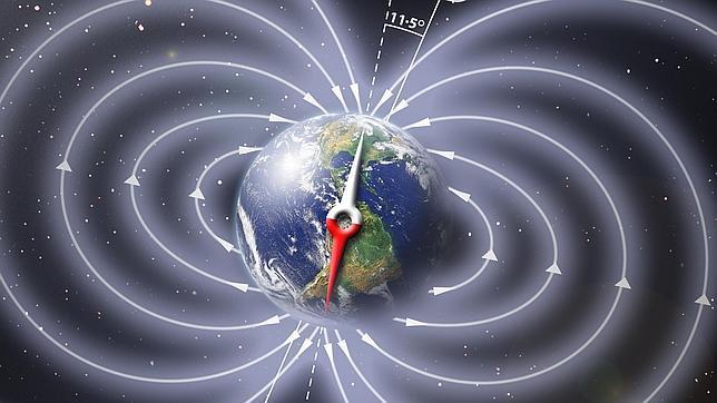 El viaje de los polos magnéticos de la Tierra