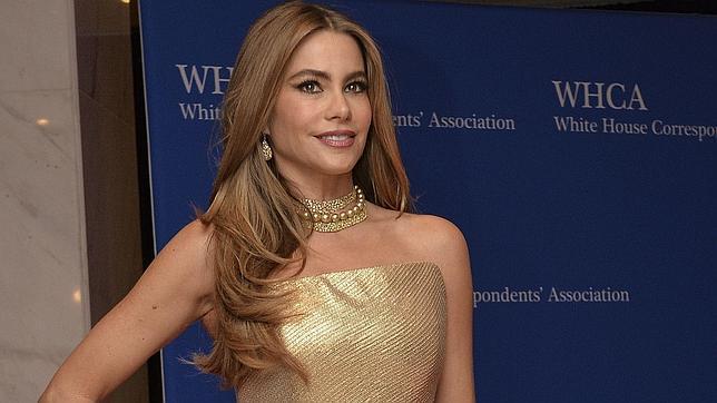 La actriz colombiana Sofía Vergara en la cena de corresponsales en la casa Blanca