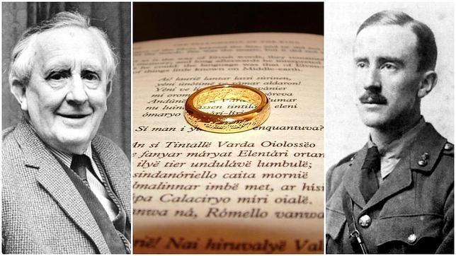 JRR Tolkien (de mayor a la izquierda y con uniforme militar a la derecha) se vio influido por la Primera Guerra Mundial a la hora de alumbrar su exitosa trilogía