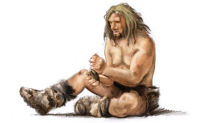 Neandertales, la otra especie humana inteligente. Fuente ilustración: José Emilio Toro (torografic@gmail.com)