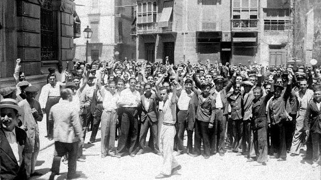 Milicianos en la ciudad de Madrid