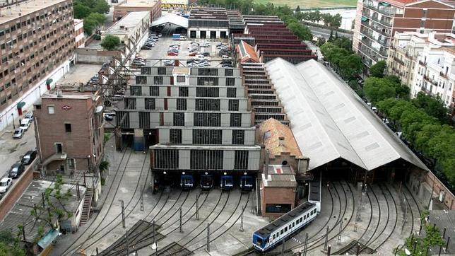 Las cocheras del metro de Reina Victoria