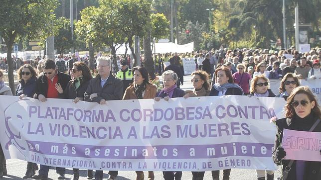 Manifestación en Córdoba el día internacional contra la violencia de género