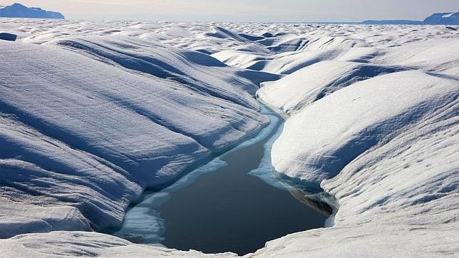 Superficie del glaciar Petermann, en Groenlandia