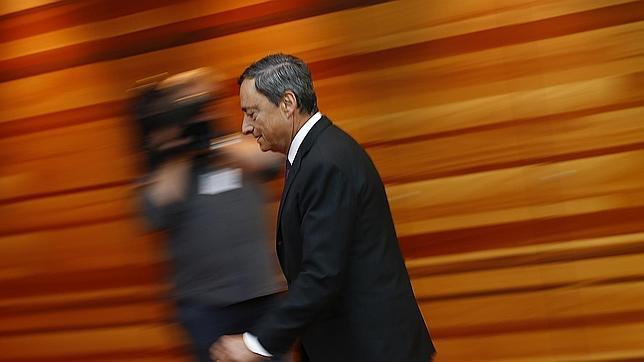 El presidente del BCE, Mario Draghi, durante la rueda de prensa tras la reunión de septiembre