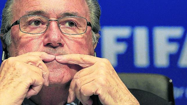 Joseph Blatter, durante una conferencia de prensa