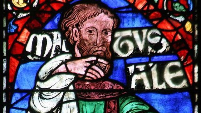 Vitral del Matusalén en la catedral de Canterbury
