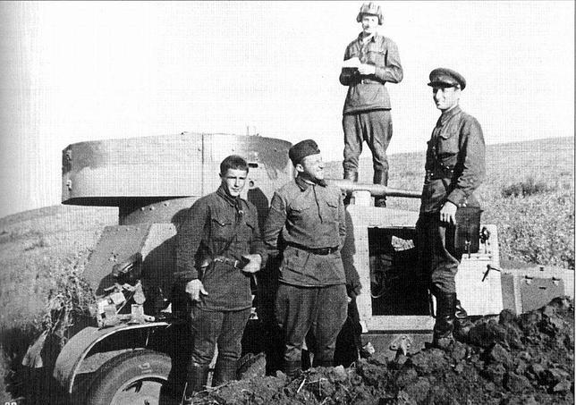 Tropas del Ejército Rojo durante las operaciones en Polonia en septiembre de 1939