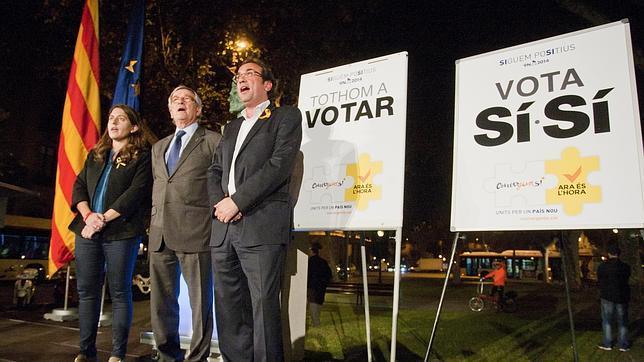 Inicio de la campaña del 9-N por CiU el pasado 29 de octubre