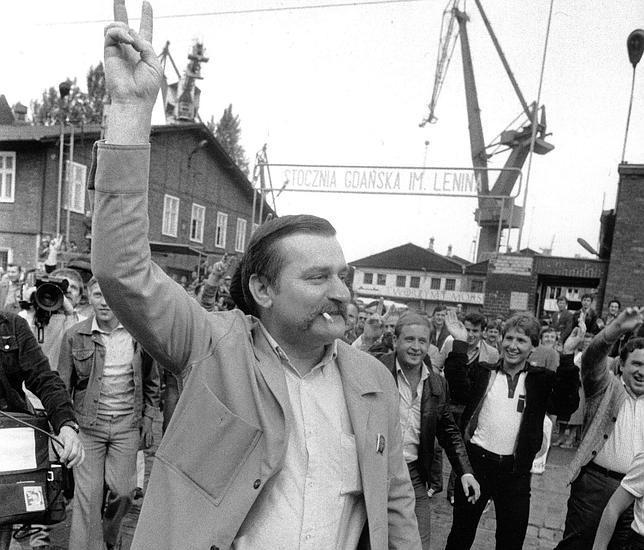 Lech Walesa, in un'immagine del 1983