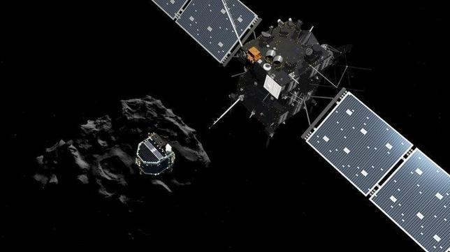 La separación del módulo Philae de la sonda Rosetta y su aterrizaje en un cometa, en directo