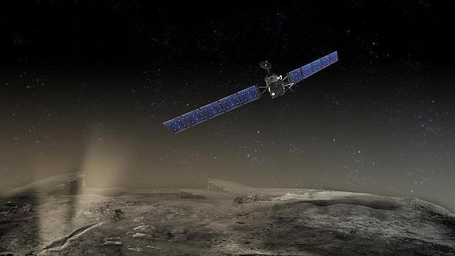 Rosetta en la órbita del cometa P-67/Churyumov-Gerasimenko