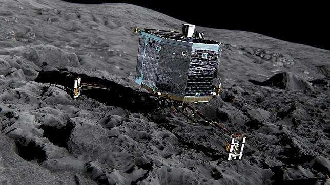 El módulo Philae sobre el cometa 67/P Churyumov-Gerasimenko