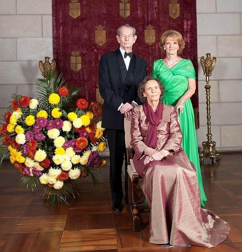 Los Reyes Miguel y Ana de Rumanía y su hija, la Princesa Margarita, en 2011