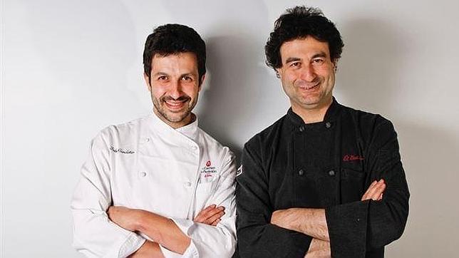 Ivan Cerdeño (izquierda) con Pepe Rodríguez (derecha)