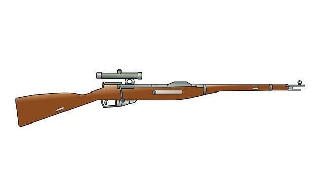 Dotado de mira telescópica, como en el dibujo, fue el arma preferida de los francotiradores soviéticos