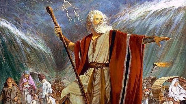 Moisés separando las aguas