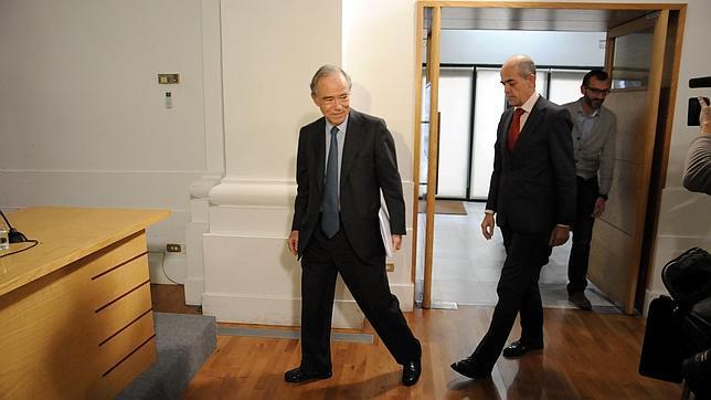 Gregorio Marañón minutos antes de ofrecer una rueda de prensa en la sede de la Fundación El Greco