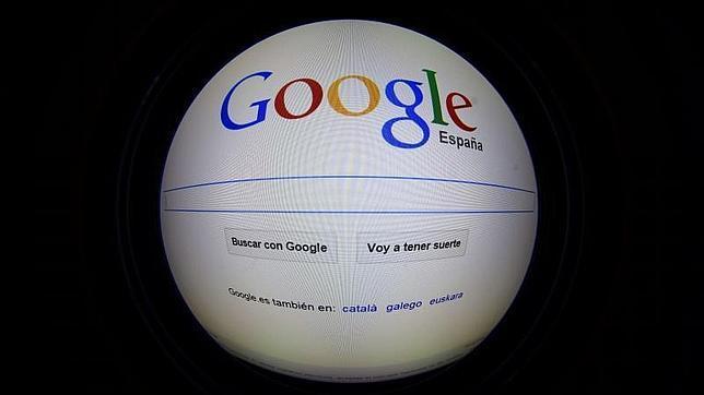 Imagen de Google España en la home page en Madrid