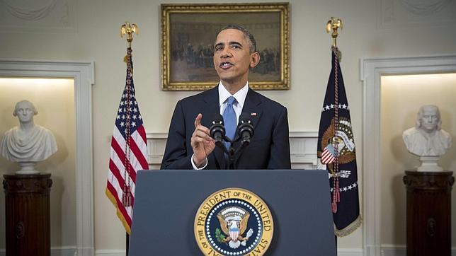 El presidente de Estados Unidos durante su intervención
