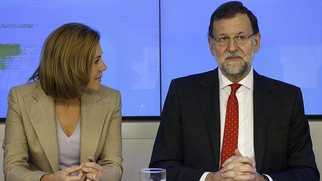 María Dolores de Cospedal y Mariano Rajoy, este lunes en el Comité Ejecutivo Nacional del PP