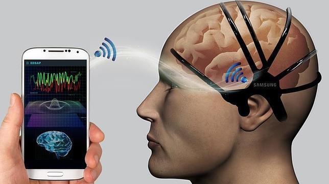 Detalle de EDSAP, la diadema sensorial de Samsung