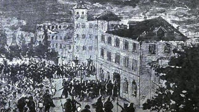 Ilustración de la Casa del Duende en el libro Madrid Viejo de Ricardo Sepúlveda (1887)