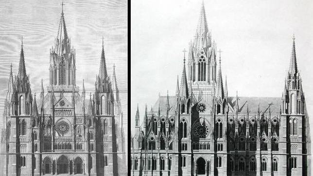 Proyecto de la catedral gótica de La Almudena del marqués de Cubas
