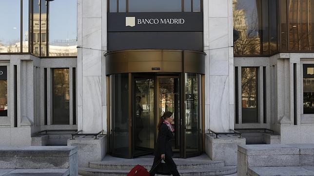 Aspecto de la sede de Banco Madrid, en la capital