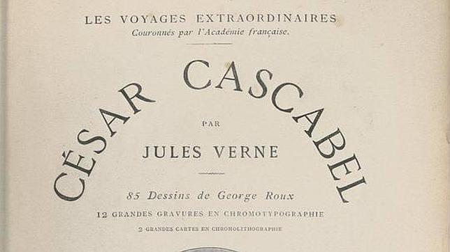 Detalle de la edición original de «César Cascabel», de Julio Verne