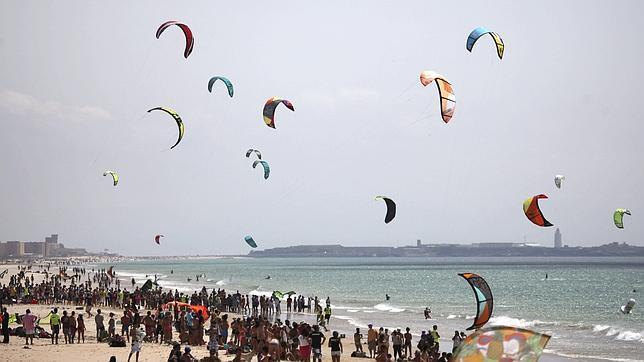 Vista de la Playa de Valdevaqueros, en Tarifa (Cádiz)
