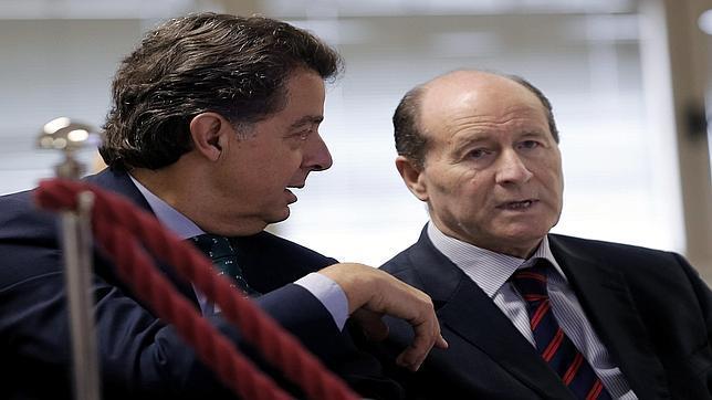 Imagen de Miguel Navarro y Luis Esteban durante el juicio que ha comenzado este lunes