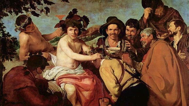 «Los borrachos» (1628-1629), cuadro que según Sánchez Adalid «sublima con genialidad la existencia ordinaria de la época»